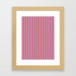 Dense summer drop stripes graphic seamless pattern. Framed Art Print