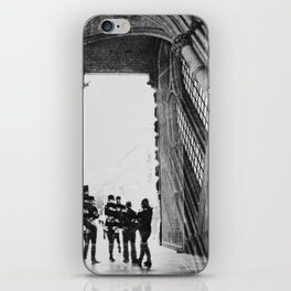 black and white cathedral iPhone Skin