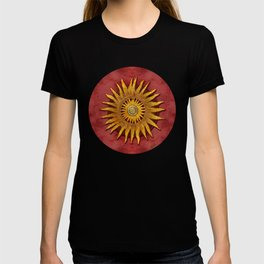 """Aztec Sun and pickled coral"" T-shirt"