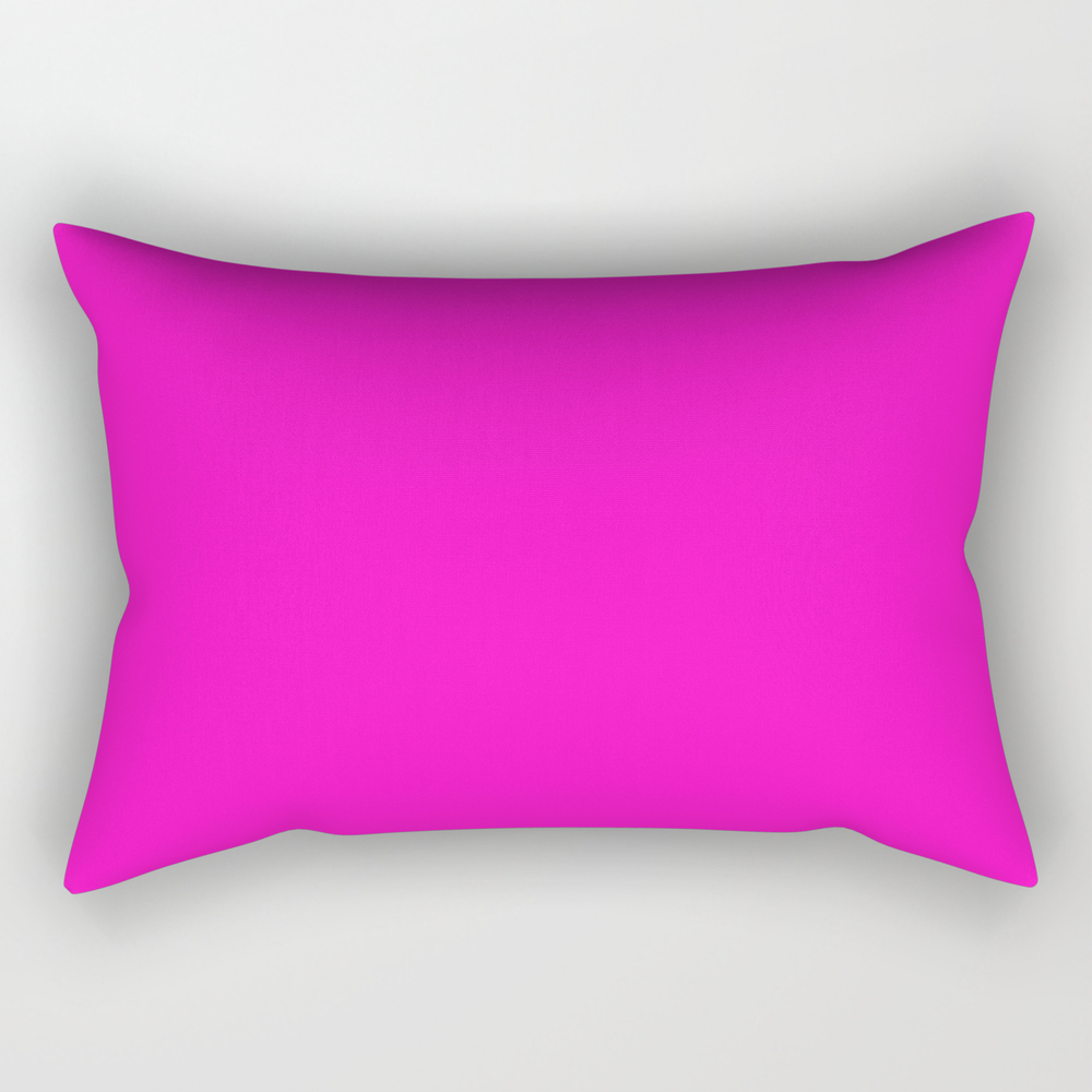 Shocking Pink - Solid Color Rectangular Pillow RPW8687689