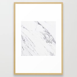 Marble - Classic Real Marble Framed Art Print