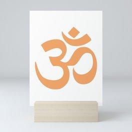 Sandy Brown Hindu Om Symbol  Mini Art Print
