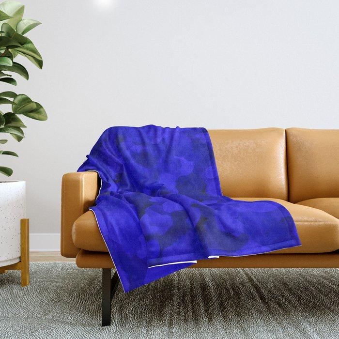 Rich Cobalt Blue Abstract Throw Blanket