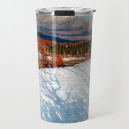 Tom Thomson - In Algonquin Park, Winter - Canada, Canadian Oil Painting - Group of Seven Travel Mug