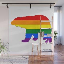 Rainbow Polar Bear Wall Mural