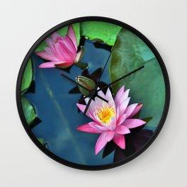 Lotus Blossoms Wall Clock