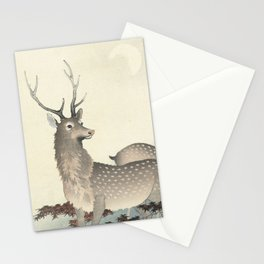 Deer by Ohara Koson Stationery Cards