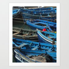 Blue Boats Art Print