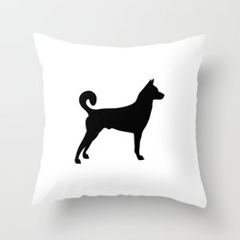 Canaan  Dog black Silhouette #society6 #decor #buyart #artprint Throw Pillow