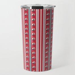 Striped Ahoy Red Travel Mug