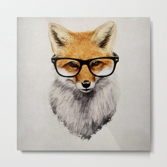 Mr. Fox Metal Print