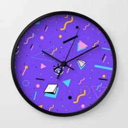80's Style pattern Wall Clock