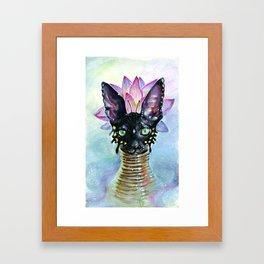 Cat Goddess Framed Art Print