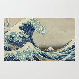 Great Wave Off Kanagawa (Kanagawa oki nami-ura or 神奈川沖浪裏) Rug