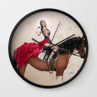 gemma Wall Clocks featuring 38. Gemma by BABA-G | arts and crafts