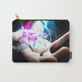 Magickal flaming pentacle Carry-All Pouch