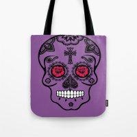 calavera Tote Bags featuring Calavera by SuperEdu