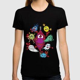 Monsters under the zipper T-shirt