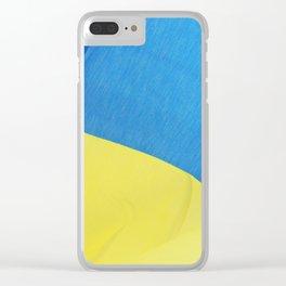 Ukraine Flag Clear iPhone Case