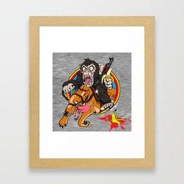 Furious George 2.0 Framed Art Print