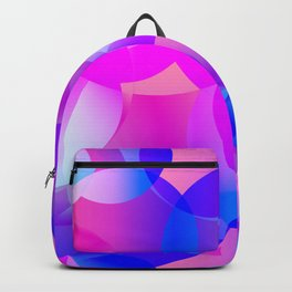 Violet and blue soap bubbles. Backpack