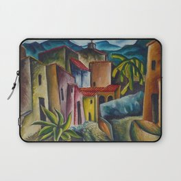 """African American Classical Masterpiece """"San Miguel Allende, 1936"""" by Hale Woodruff Laptop Sleeve"""