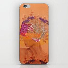Woman in flowers III iPhone Skin