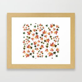 Leaves of trees - Autumn nature / Fall season Framed Art Print
