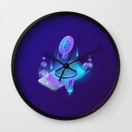 BITCOIN! BLOCKCHAIN CRYPTOCURRENCY FINANCIAL TECHNOLOGY Wall Clock