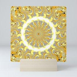 Orange and Yellow Kaleidoscope 2 Mini Art Print