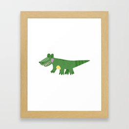 Cute Baby Crocodile Framed Art Print