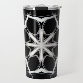 Icelandic // Geometric Black White Sacred Geometry Flower Life Peace Healing Energy Star Circle Travel Mug