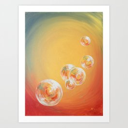 Candy Bubbles Art Print