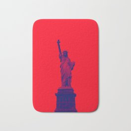Red Statue of Liberty Bath Mat