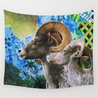 ram Wall Tapestries featuring Ram by John Turck