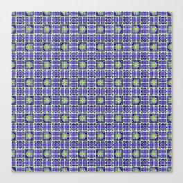 Digital Geometric Quilt Design Canvas Print