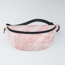 New york city map pink Fanny Pack