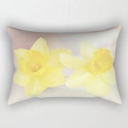 Buttercream Daffs Rectangular Pillow