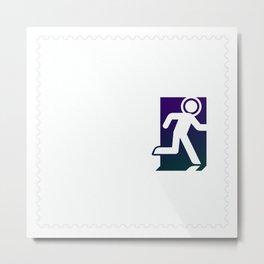 Stamp series - Spaceman Metal Print