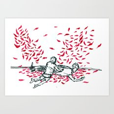 Fallen Feathers Art Print