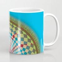 health Mugs featuring Health Mandala - מנדלה בריאות by dotan yiloz