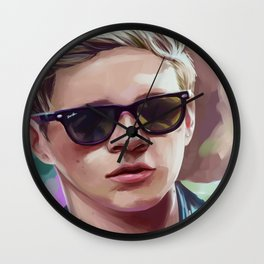 sunglasses aw yeah Wall Clock