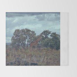 Blue Giraffe Throw Blanket