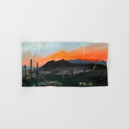 Sunset Over the Superstitions Hand & Bath Towel