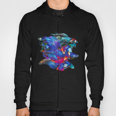 FIGHTING FISHES BETTA - Animals | Psychedelic | 70's | Abstract | Pop | Surrealism | Nature Hoody