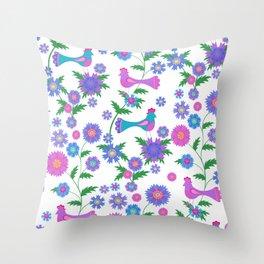 Paradise birds Throw Pillow