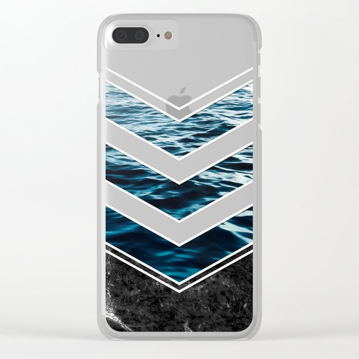Striped Materials of Nature III Clear iPhone Case