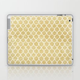 Mermaid Tail Pattern  |  Gold Glitter Laptop & iPad Skin
