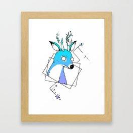 Some kinda' antlers weirdo... Framed Art Print
