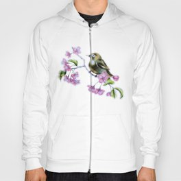 Cherry blossoms and a bird Hoody